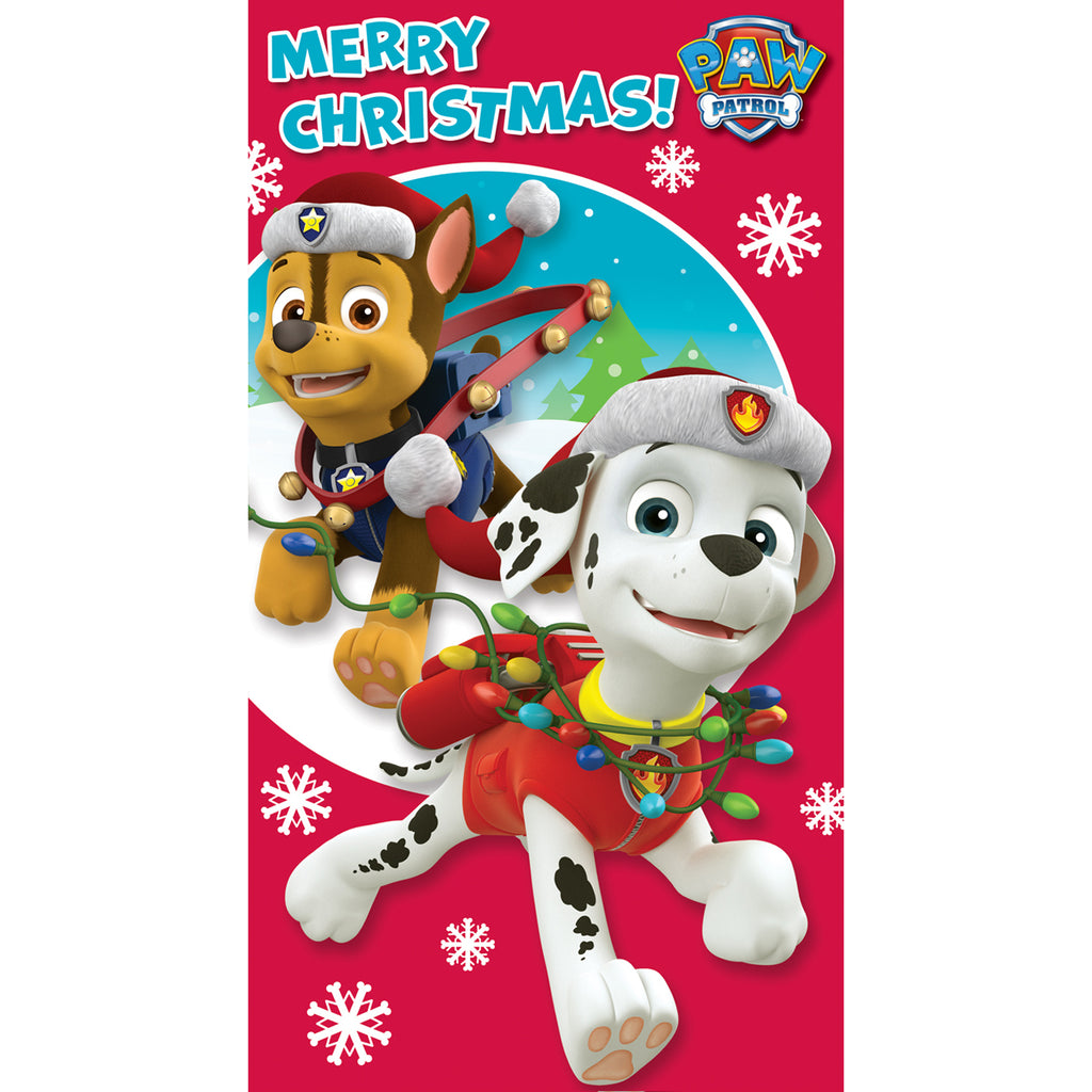 Paw Patrol General Christmas Card Front