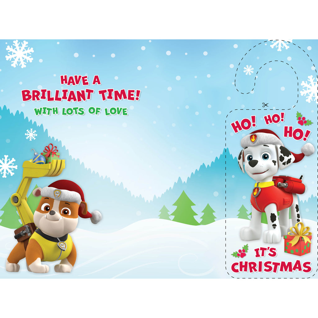 Paw Patrol Son Christmas Card Inside