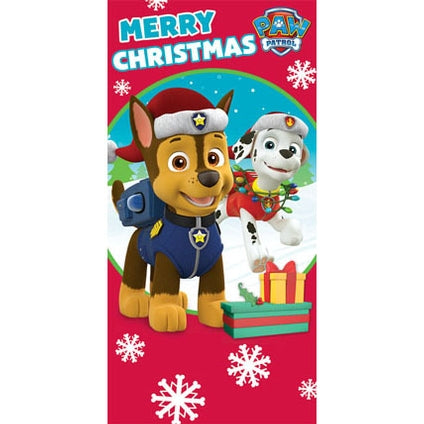 Paw Patrol Money Wallet Christmas Card