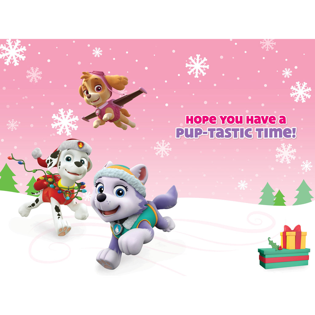 Paw Patrol Granddaughter Christmas Card Inside