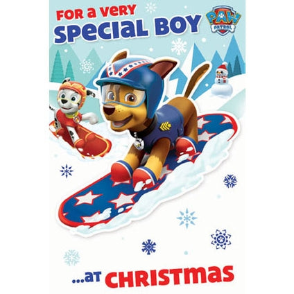 Paw Patrol Special Boy Christmas Card