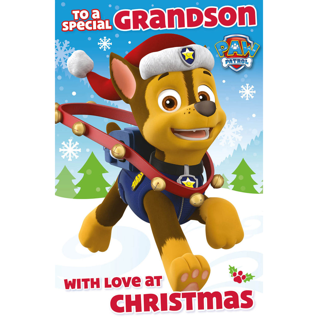 Paw Patrol Grandson Christmas Card Inside