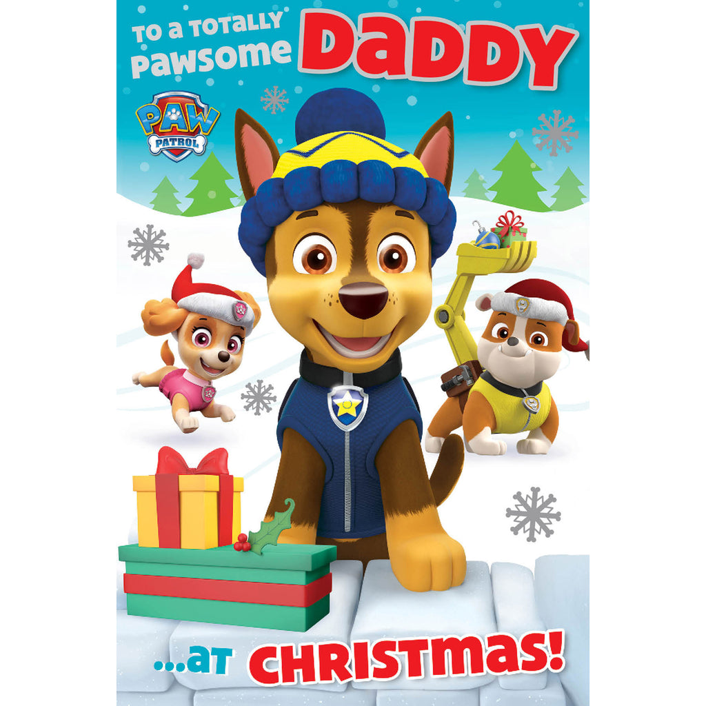 Paw Patrol Daddy Christmas Card Front