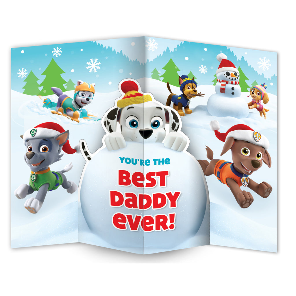 Paw Patrol Daddy Christmas Card Inside