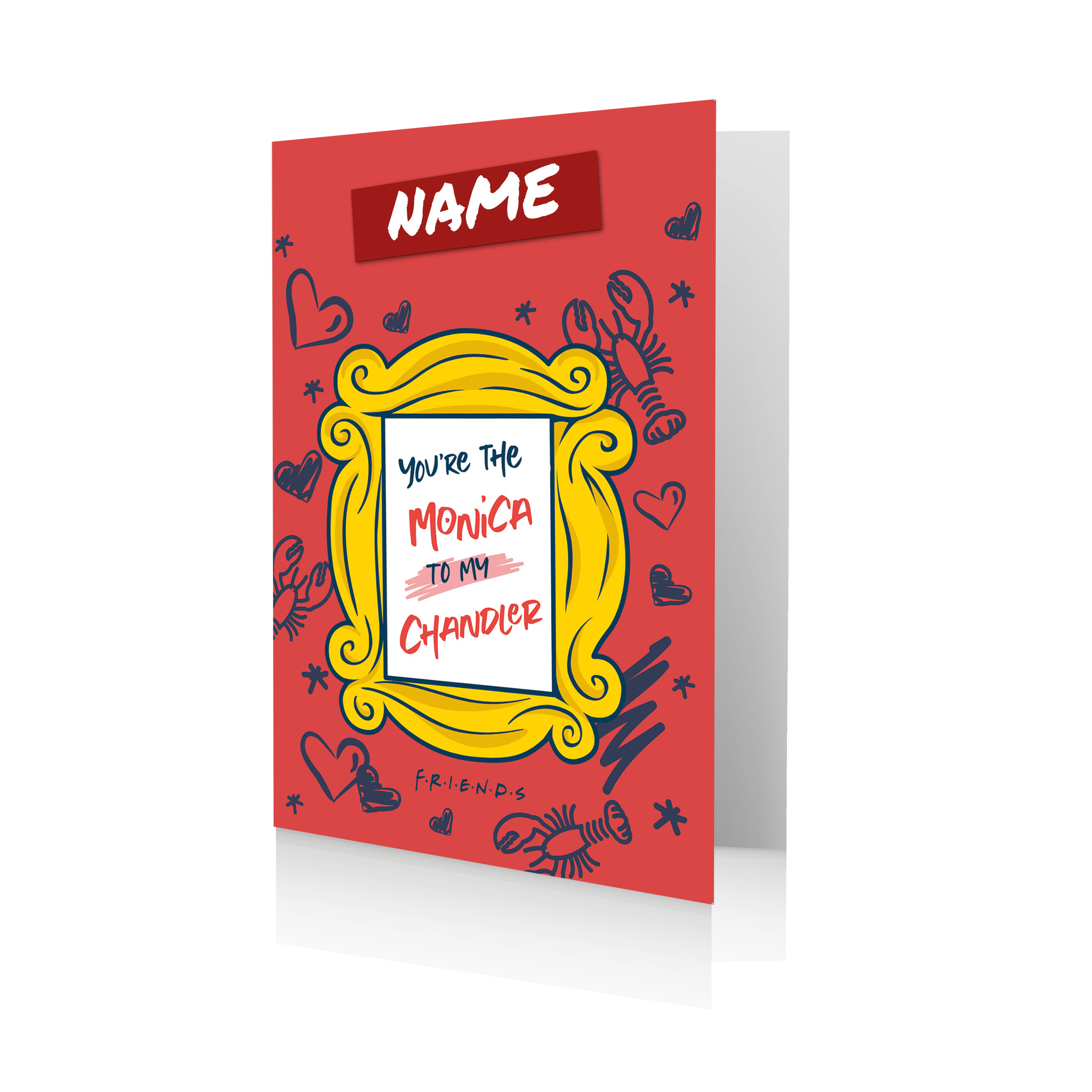Personalised Friends Monica & Chandler Valentines Greeting Card