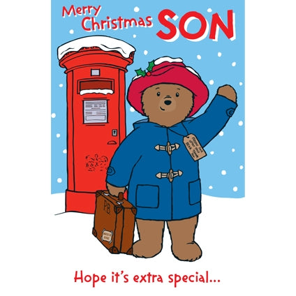 Paddington Bear Son Christmas Card
