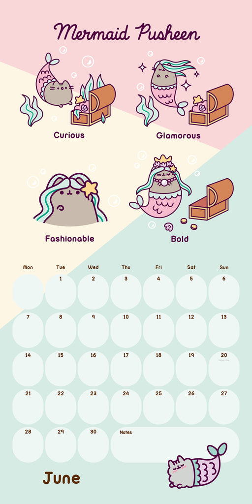 Pusheen Official 2021 Square Wall Calendar Inside