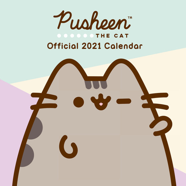 Pusheen Official 2021 Square Wall Calendar Front