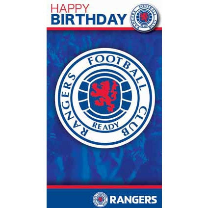 Glasgow Rangers Happy Birthday Crest Card