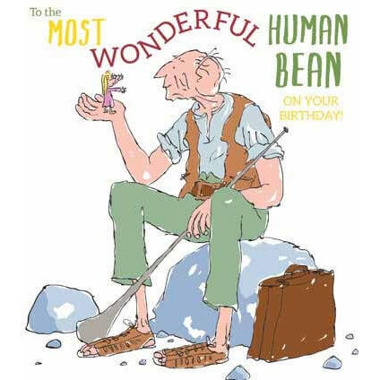 Roald Dahl BFG Human Bean Birthday Card