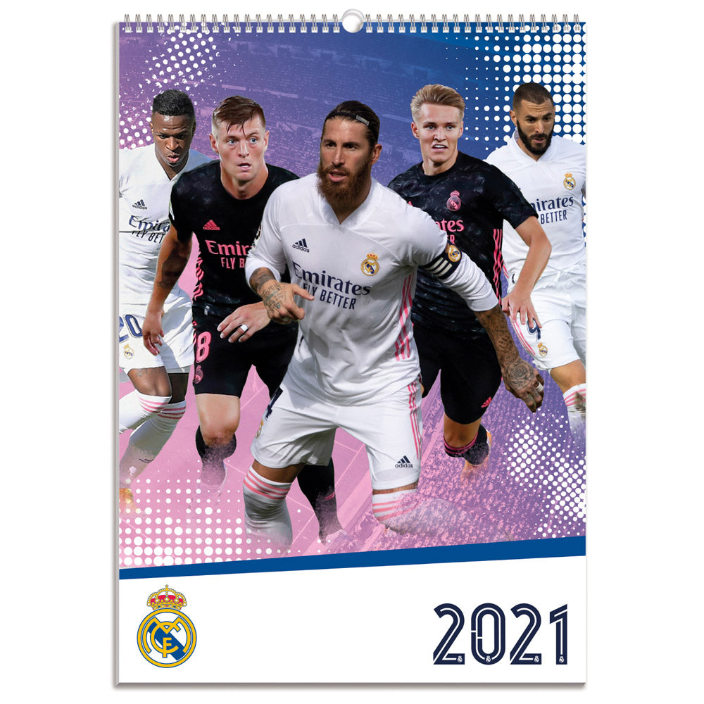 Real Madrid 2021 A3 Wall Calendar Front