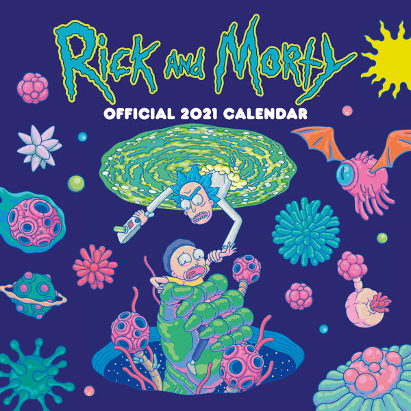 Rick & Morty Official 2021 Square Wall Calendar Front