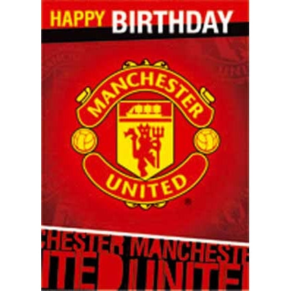 Man Utd Crest Birthday Sound Card