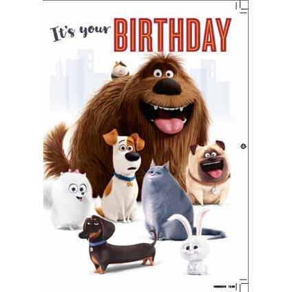 Secret Life of Pets Birthday Sound Card