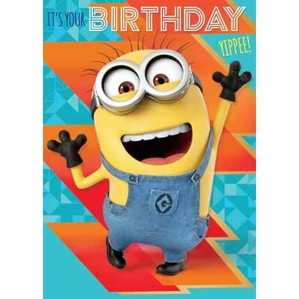 Despicable Me 3 Minion It's Your Birthday Sound card