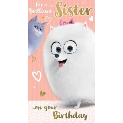 Secret Life Of Pets Sister Card