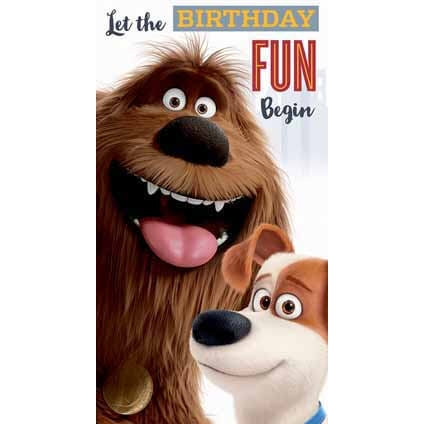Secret Life Of Pets General Birthday Card