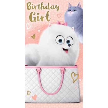 Secret Life Of Pets Birthday Girl Card