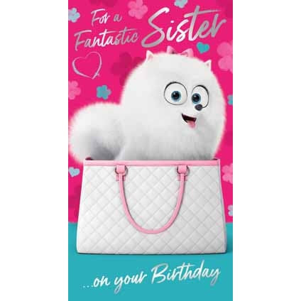 Secret Life of Pets 2 Sister Birthday Card
