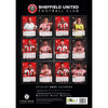 Sheffield United FC 2021 A3 Wall Calendar Back