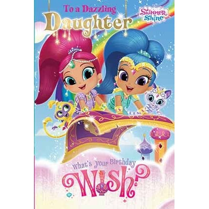 Shimmer and Shine Daughter Birthday Card