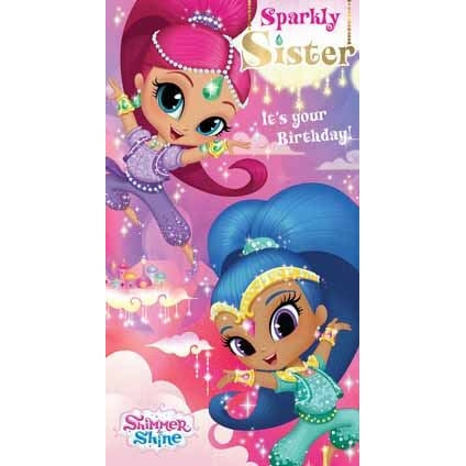 Shimmer and Shine Sister Birthday Card