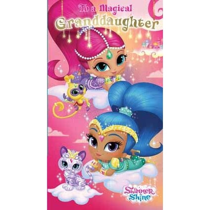 Shimmer and Shine Granddaughter Birthday Card