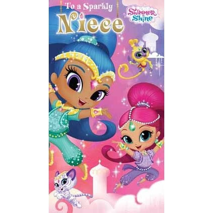 Shimmer and Shine Niece Birthday Card