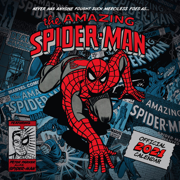 Spiderman Official 2021 Square Wall Calendar FRONT