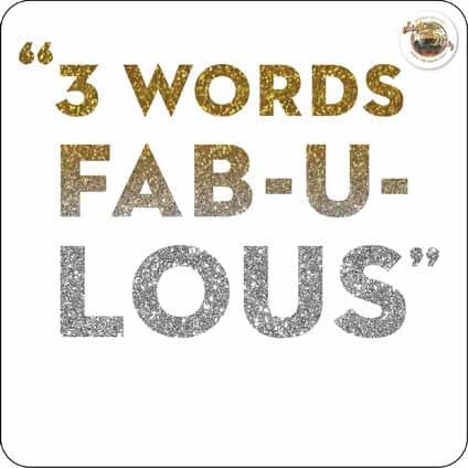 Strictly Come Dancing 3 Words ... FAB-U-LOUS Card
