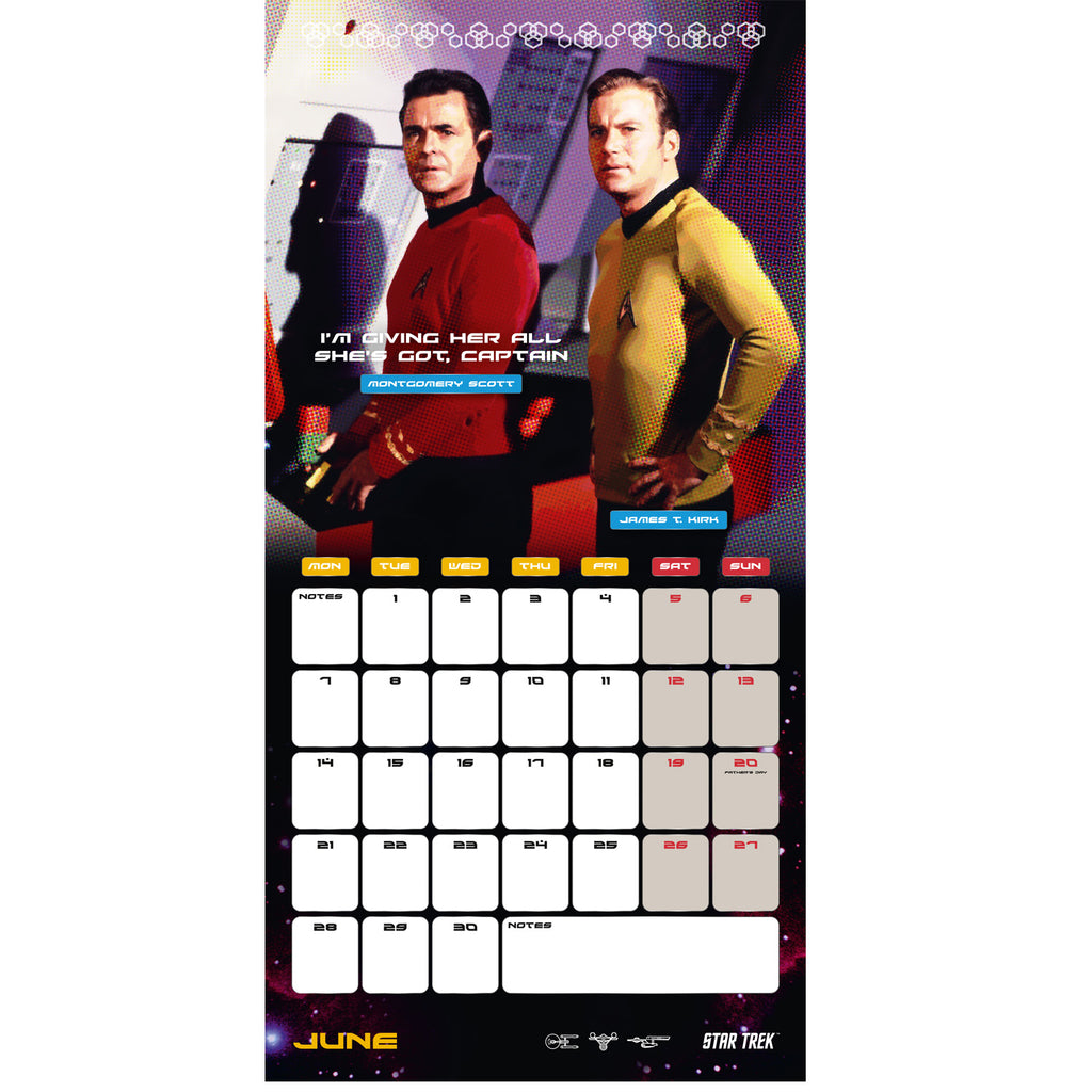 Star Trek 2021 TV Series Calendar Inside Image