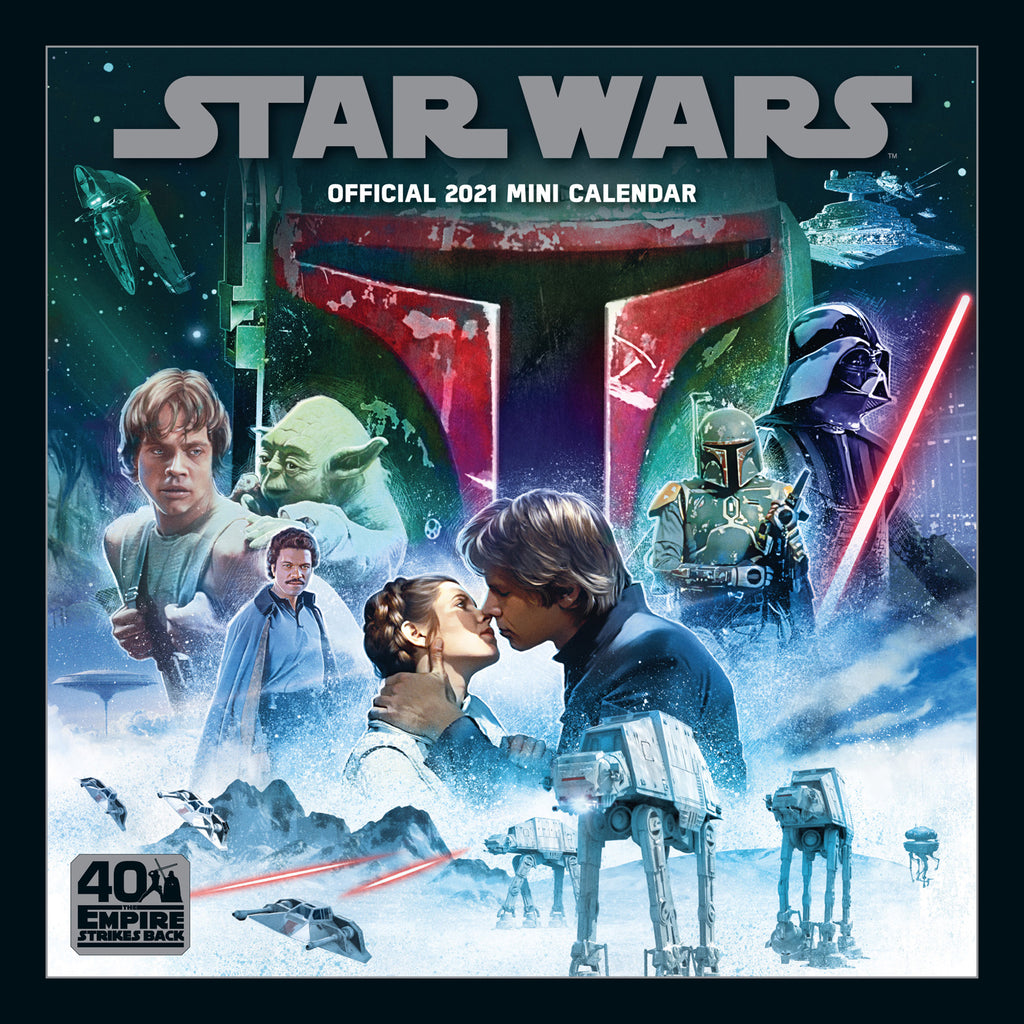 Star Wars Official Mini 2021 Calendar Front