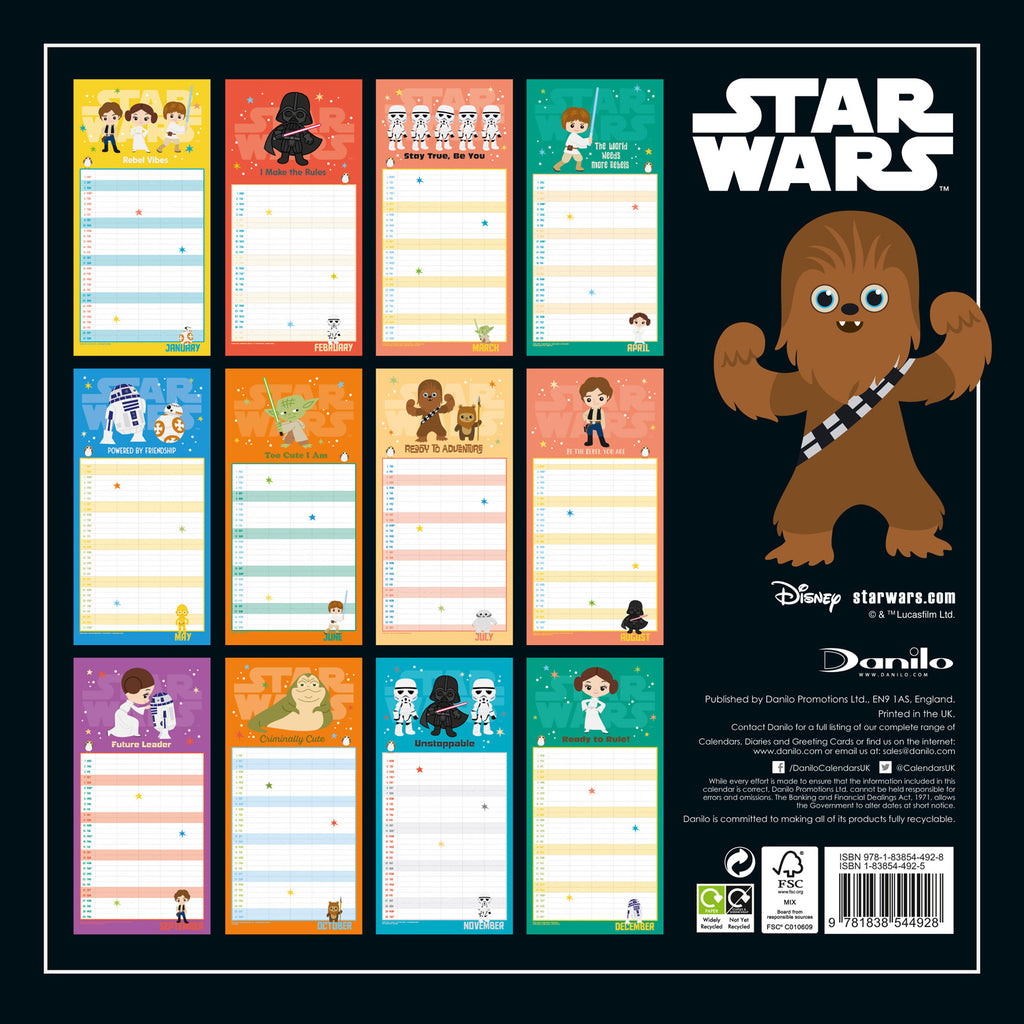 Star Wars Official 2021 Family Organiser Back