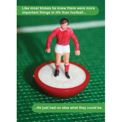 Subbuteo Retro Humour Birthday Card