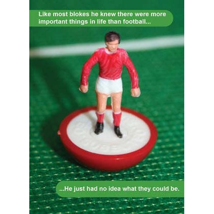 Subbuteo General Birthday Card