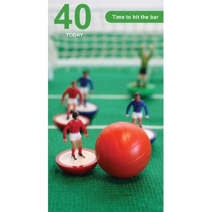 Subbuteo 40th Birthday Card