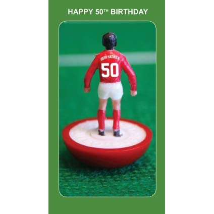 Subbuteo 50th Birthday Card