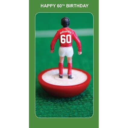 Subbuteo 60th Birthday Card