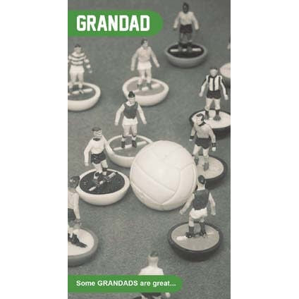 Subbuteo Grandad Birthday Card