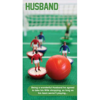 Subbuteo Husband Birthday Card