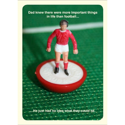 Subbuteo Football Fathers Day Card