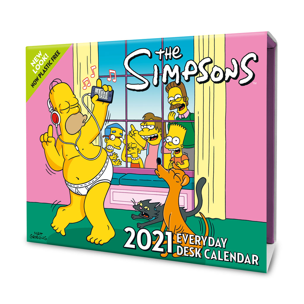 The Simpsons 2021 Desk Block Calendar Front