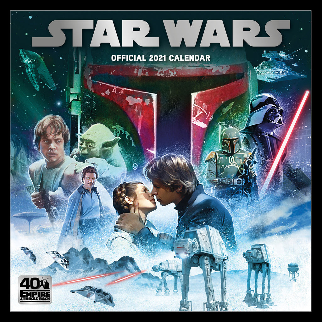 Star Wars Classic 2021 Square Wall Calendar Cover
