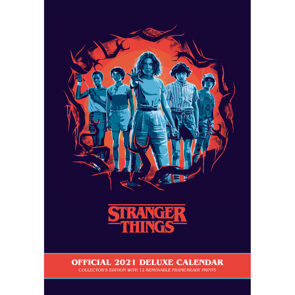Official Stranger Things 2021 Calendar - A3 Deluxe Front