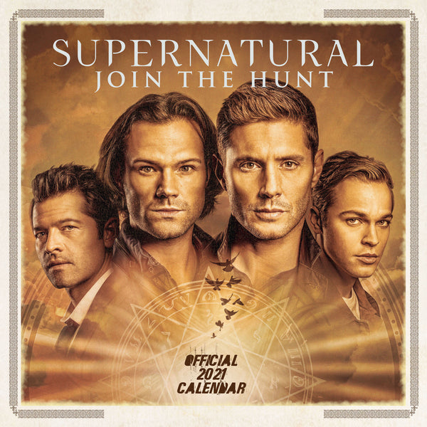 Supernatural Official 2021 Square Wall Calendar Front