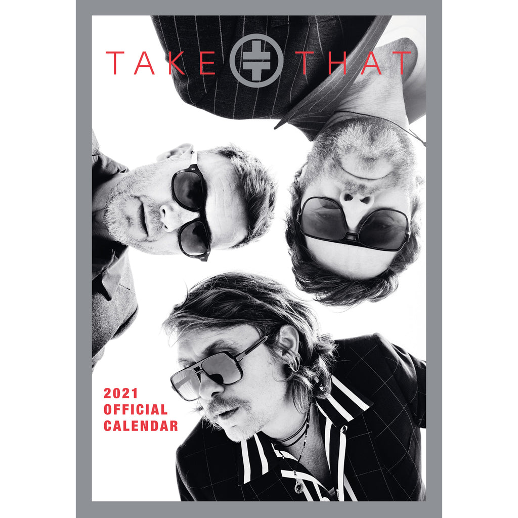 Take That Official 2021 A3 Wall Calendar Front