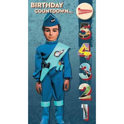 Thunderbirds Badged Birthday Card