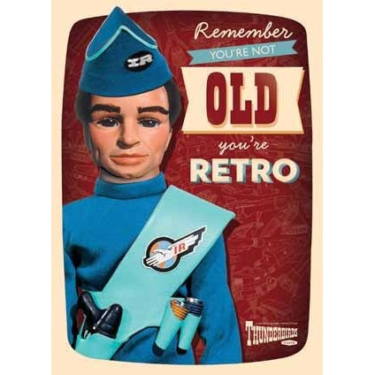 Thunderbirds Retro Birthday Card