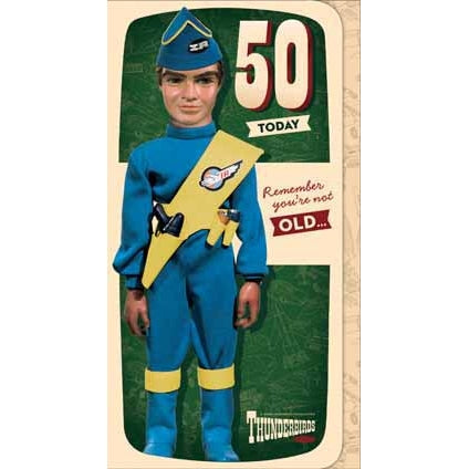 Thunderbirds Age 50 Birthday Card