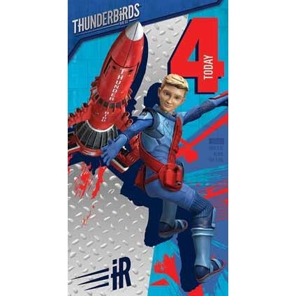 Thunderbirds Are Go Age 4 Birthday Card